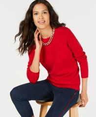 Image of Charter Club Pure Cashmere Solid Crewneck Sweater in Regular & Petite Sizes, Created for Macy's