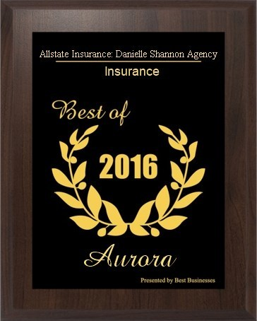 Danielle Shannon Agency -  2016 Aurora Small Business Excellence Award