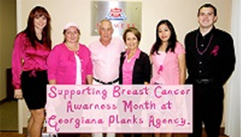 The Plank Agency supporting Breast Cancer Awareness Month at our Tucson office!
