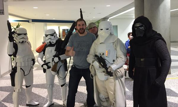 Scott recently arrested by Stormtroopers at ComiCon