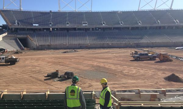 Construction of Colorado State Universities new on campus stadium.