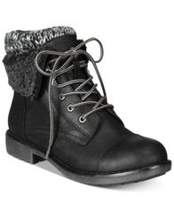 Image of Cliffs by White Mountain Decker Lace-Up Booties, Created for Macy's