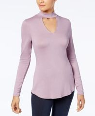 Image of Ultra Flirt Juniors' Mock-Neck Cutout Top