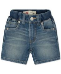 Image of Levi's® Baby Boys' Knit Denim Shorts