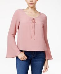 Image of Polly & Esther Juniors' Bell-Sleeve Peasant Top