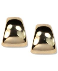 Image of Anne Klein Gold-Tone Button Post Earrings