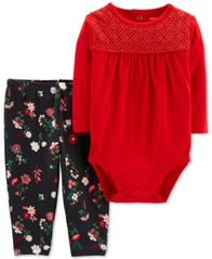 Image of Carter's Baby Girls 2-Pc. Cotton Bodysuit & Leggings Set
