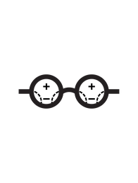 Varifocal glasses icon