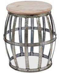 Image of Home Essentials Galvanized Barrel Table
