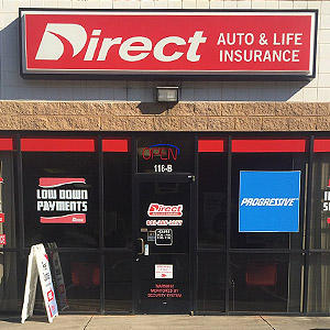 Front of Direct Auto store at 116 Woodland Drive, Lancaster