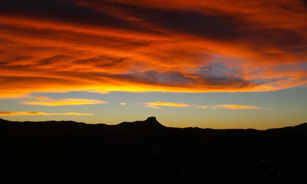 Sunset at Thumb Butte in Prescott Arizona