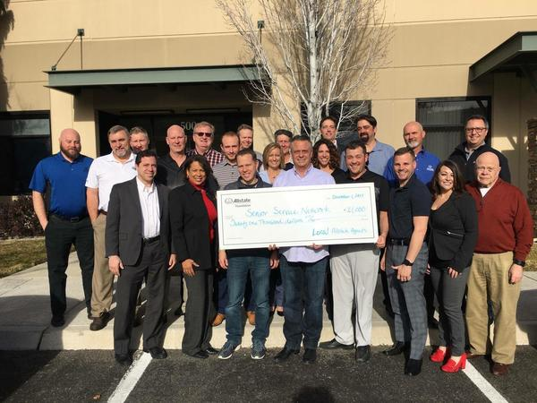 Bearden Insurance Group Inc - Local Allstate Agents Donate to Senior Service Network!