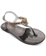 Image of XOXO Joanie Embellished Thong Jelly Sandals