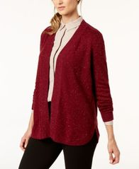 Image of Karen Scott Open-Front Curved-Hem Cardigan, Created for Macy's