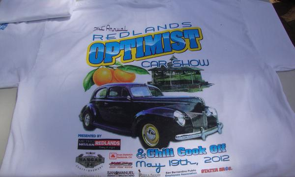 A t-shirt with a car on it