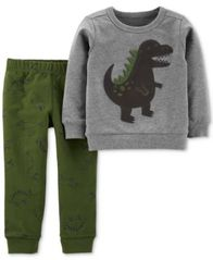 Image of Carter's Baby Boys 2-Pc. Dino Top & Pants Set