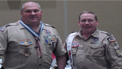 With Marc Milner who was awarded the Silver Beaver for his service to scouting.