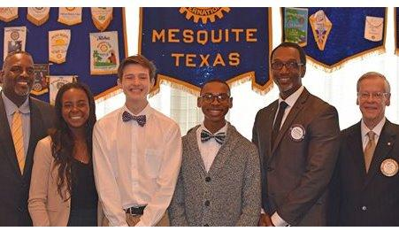 Mesquite Rotary Club Four-Way Speech Contest Winners