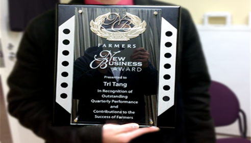 Tri Tang -The Winner of the Farmers® New Business Award!