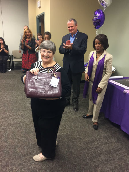 Gabriel Peck - Presenting a Purple Purse