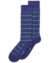 Image of AlfaTech by Alfani Men's Windowpane-Plaid Dress Socks, Created for Macy's