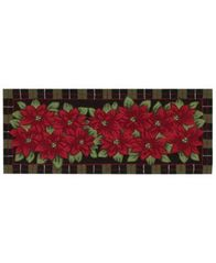 "Image of CLOSEOUT! Nourison Rugs, Holiday Poinsettia 22"" x 54"" Runner"