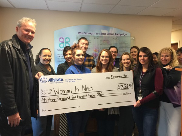 Don Moats Insurance Agency, Inc. - Women In Need Receives Allstate Foundation Helping Hands Grant