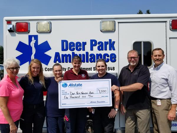 William Jorgensen - Allstate Foundation Grant Helps  Deer Park Volunteer Ambulance