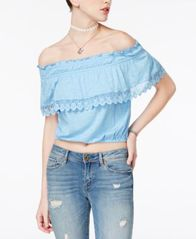Image of American Rag Off-The-Shoulder Popover Top, Created for Macy's