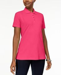 Image of Karen Scott Short-Sleeve Polo Top In Regular & Petite Sizes, Created for Macy's