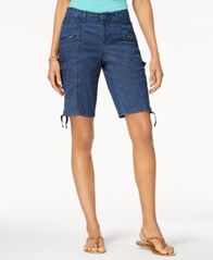 Image of Style & Co Zipper Bermuda Cargo Shorts, Created for Macy's