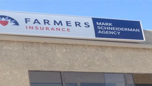 Our new sign...proud to fly the Farmers® 'flag'.