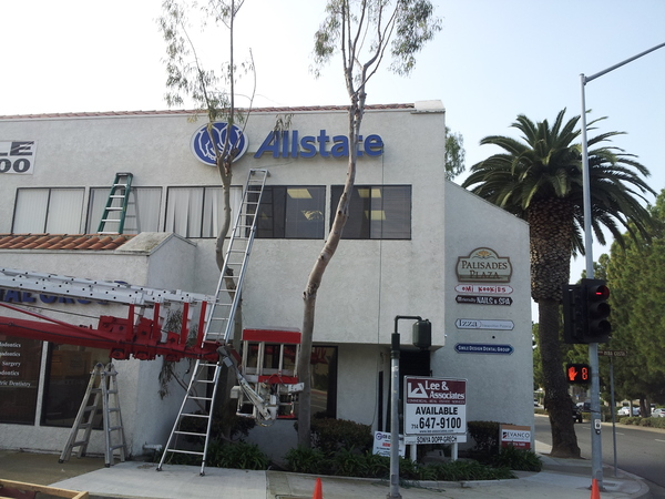 Mike Plouff - New LED Allstate sign going up!!! Going Green.