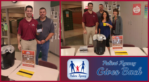 Pulieri Agency gives back to our Local Educators at Northeast Middle School