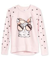 Image of Epic Threads Cat-Print Sweatshirt, Big Girls (7-16), Created for Macy's