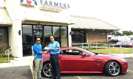 Our Client Wilmer Gaviria with Agent Tony welcoming him to our Agency!