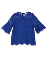 Image of Monteau Lace Bell-Sleeve Top, Big Girls