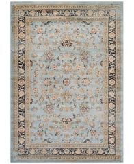 "Image of CLOSEOUT! Couristan HARAZ HAR1443 Blue 7'10"" x 11'2"" Area Rug"
