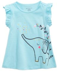 Image of First Impressions Baby Girls Safari Graphic-Print Cotton Top, Created for Macy's