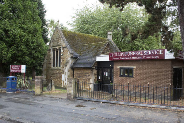 H J Phillips & Son Funeral Directors in Rockingham Road, Corby