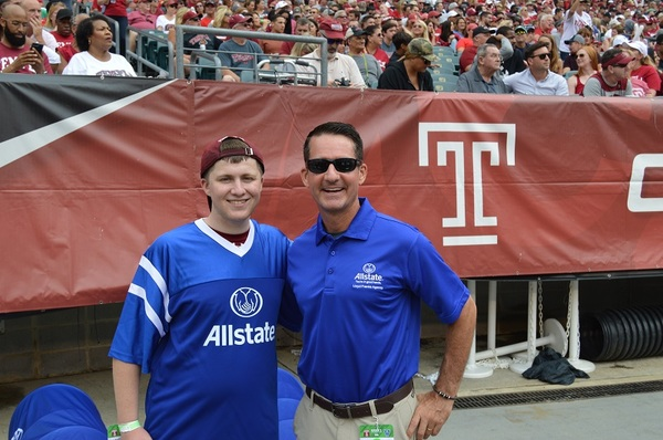 Lloyd Franks - Allstate Field Goal Net Challenge at Temple University