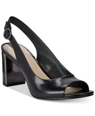 Image of Alfani Women's Step 'N Flex Florraa Slingback Peep-Toe Dress Sandals, Created for Macy's