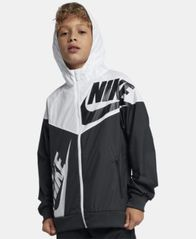 Image of Nike Big Boys Hooded Sportswear Windrunner Colorblocked Jacket