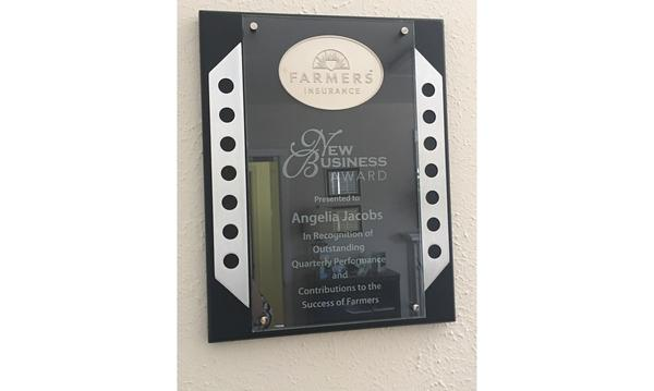 Farmers Agency's New Business Award