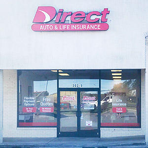 Front of Direct Auto store at 302 East Dixon Boulevard, Shelby