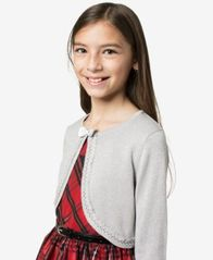 Image of Bonnie Jean Big Girls Metallic Flyaway Cardigan