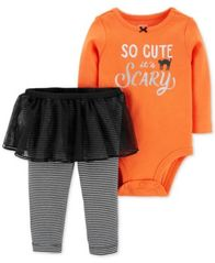 Image of Carter's Baby Girls 2-Pc. Bodysuit & Tutu Pants Set