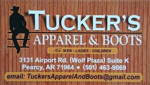 Tucker's Apparel and Boots in Hot Springs, Arkansas!