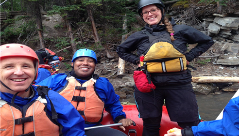 Bob is White Water Rafting in Calgary!  Wow!