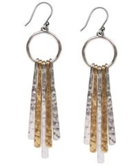 Image of Lucky Brand Two-Tone Paddle Drop Earrings